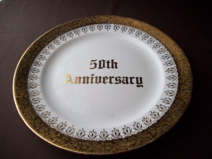 "8 1/4""   50th Anniversary  Eastern China 22kt Gold Plate"