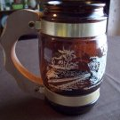Siesta Ware Brown Glass Barrel Mug  Yellowstone