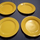 Four Vintage Yellow Saucers