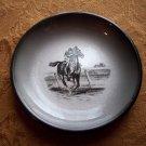 Enameled Metal Evans Race Horse Dish