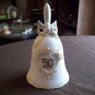 Bisque Porcelain 50th Anniversary Musical Bell