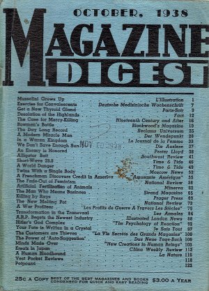 Magazine Digest October 1938