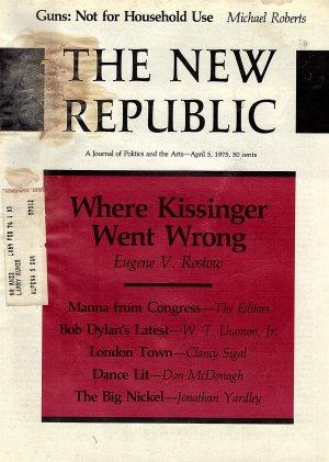The New Republic Magazine April 5, 1975