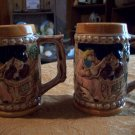 Two Vintage Porcelain Mugs Made in Japan