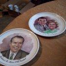 Two Vintage Nixon Plates
