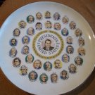 Vintage President Plate with Nixon in Center
