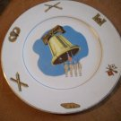Vintage American Ceramic's Plate  22 Carat Gold