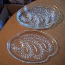 Four Clear Glass Trays