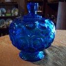 Beautiful Vintage Cobalt Blue Glass Candy Dish