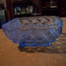Vintage Blue Depression Glass Bowl
