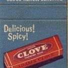 Clove Matchbook Cover