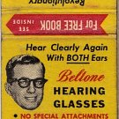 Beltone Hearing Glasses Matchbook Cover