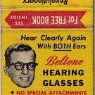 Beltone Hearing Glasses Matchbook Cover