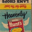 Hunt's Peaches Matchbook Cover