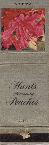 Hunt's Heavenly Peaches Azalea Matchbook Cover