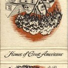 Homes Of Great Americans Andrew Jackson and Theodore Roosevelt Matchbook Cover