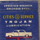 Trojan Lubrication Morrison's Cities Service DeSmet, SD Matchbook Cover