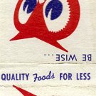 Red Owl Food Stores Matchbook Cover