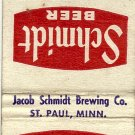 Schmidt Beer Matchbook Cover