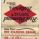 Red Diamond Batteries Matchbook Cover