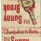 Old Sunny Brook Matchbook Cover