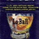 """Calvert """"Lo-Ball"""" Matchbook Cover"""