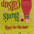 Hunt's Catsup Matchbook Cover