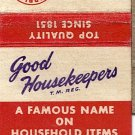 Good Housekeeping Products Cupple Company Manufacturers St. Louis 2, Mo. Matchbook Cover