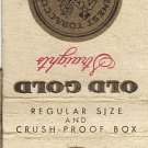 Old Gold Straights Matchbook Cover