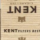 Kent Cigarettes Matchbook Cover