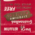 Muffler King  Evans Milwaukee's First Original Muffler Specialist Matchbook Cover
