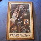 Vintage Framed Pabst Blue Ribbon Advertisement