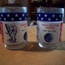 Two Apollo II Moon Landing Glasses