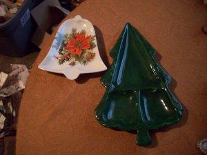 Two Christmas Trays