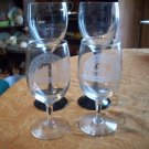 Two Sets of Two Honeywood Wine Glasses