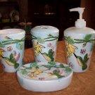 Set of Four Unused Ceramic Bathroom Set