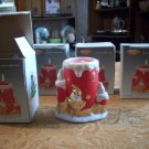 Lot of Four Artmark Porcelain Candle Lamps (In original boxes)