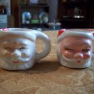 Two Small Vintage Santa Cups
