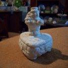 Porcelain Lidded Snowman Box