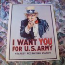 Vintage I Want You For U.S. Army Recruiting Poster 1968