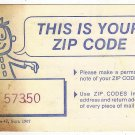 This Is Your Zip Code Card September 1967