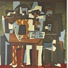 Three Musicians Lithograph by Pablo Picasso