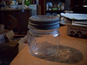 Vintage Pint Ball Special Mason Jar With Lid