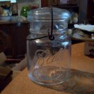 Vintage Pint Ball Ideal Wire Side Mason Jar With Lid