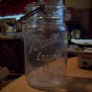 Vintage Quart Ball Eclipse Wide Mouth Wire Side Mason Jar