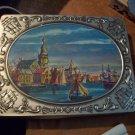 Vintage Verkade Tin with Sailboat Scene