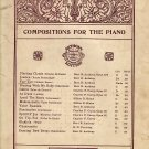 Vintage Sheet Music Compositions For The Piano Anthony Edition