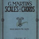 Vintage Sheet Music G. Martin's Scales and Chords