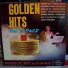 Golden Hits Patti Page Record