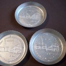Three Vintage Stanley Home Products Aluminum Coasters